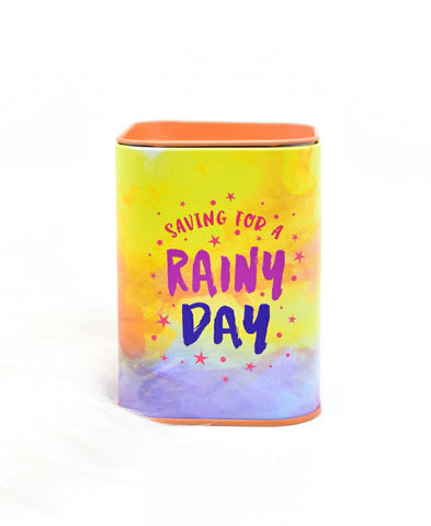 Rainy Day ! Metal Money Box