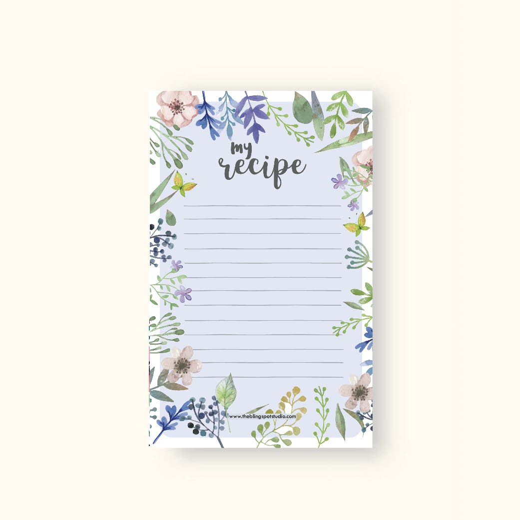 My Recipe Wide Notepad