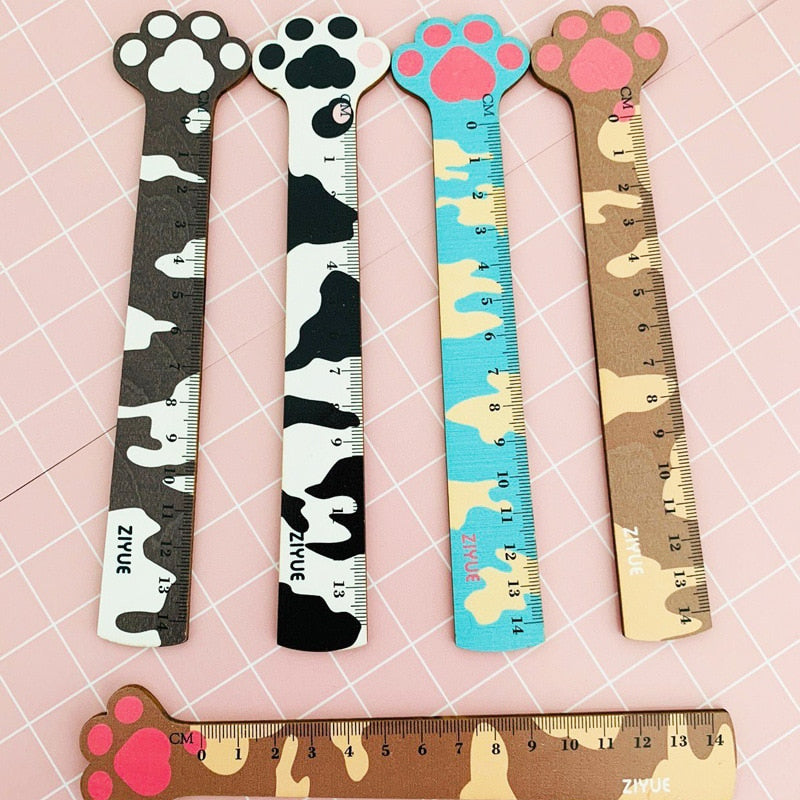 Cat Claw Wooden Ruler