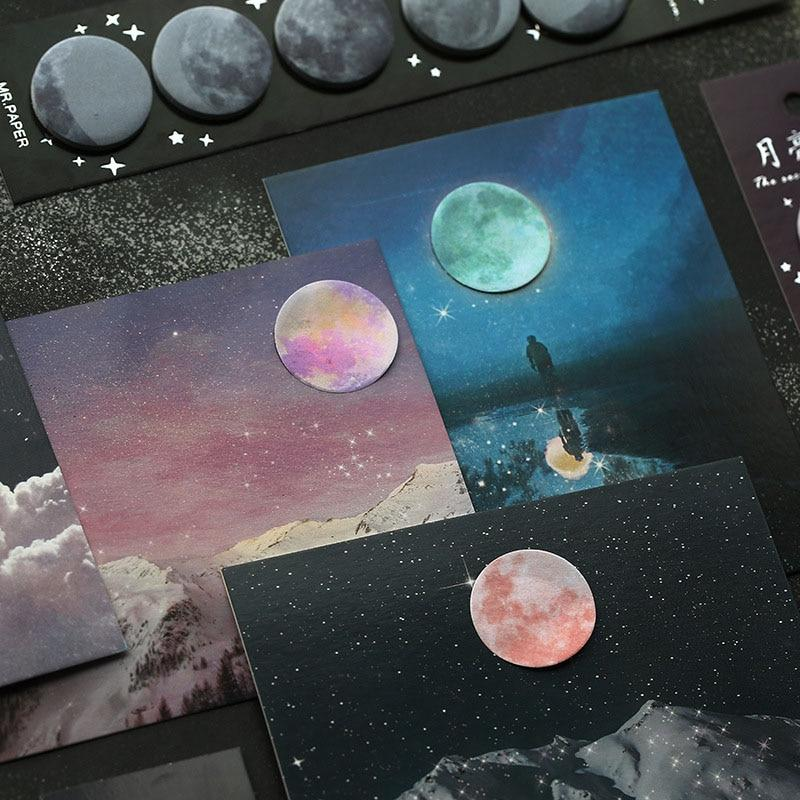Galaxy Moon Memo Pad Sticky Notes