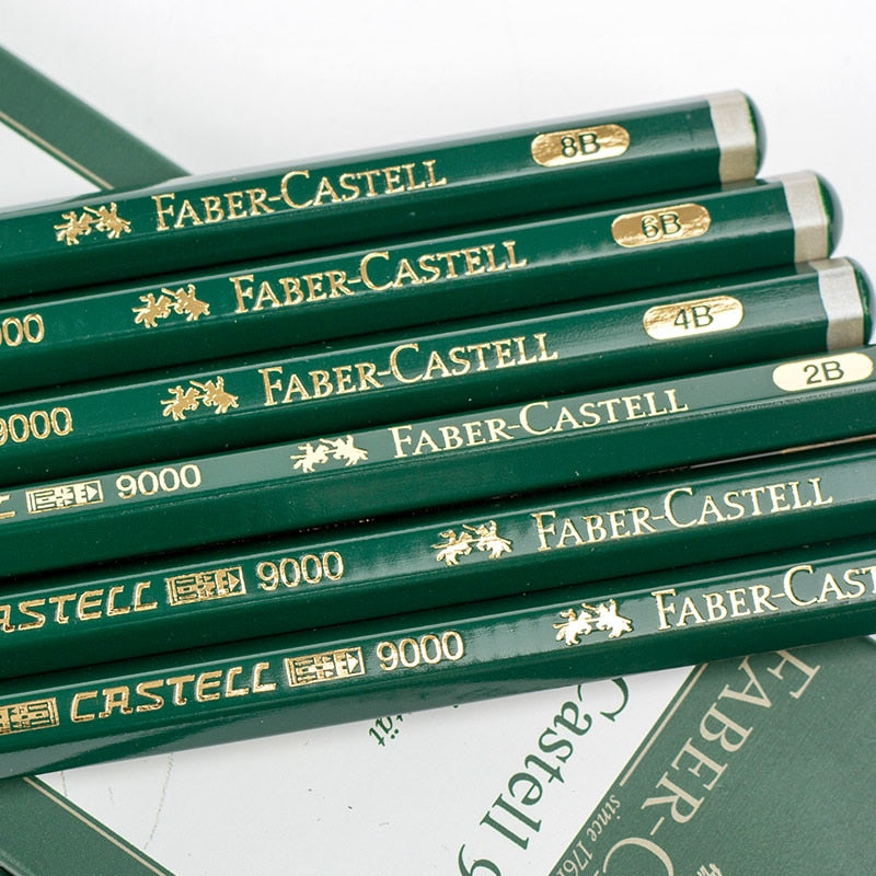 Faber Castell Castell 9000 Graphite Pencil Set of 6