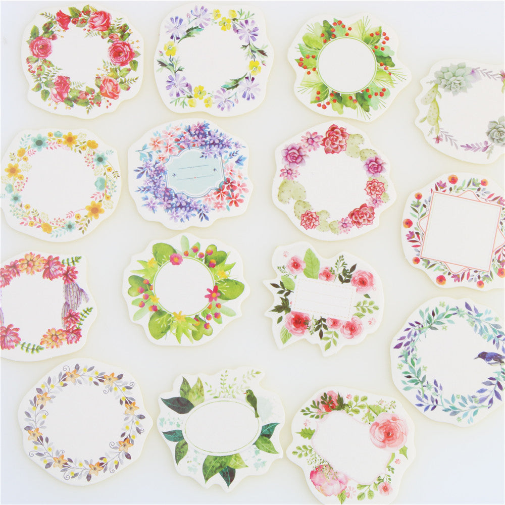 Mini Wreath Paper Sticker For Decoration