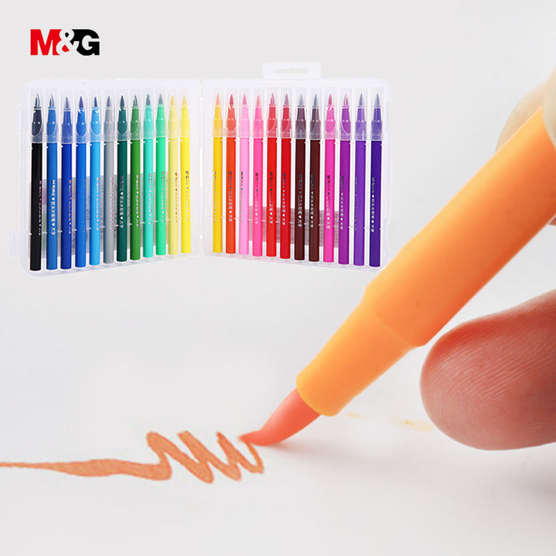 M&G Watercolor Soft Brush Markers Set