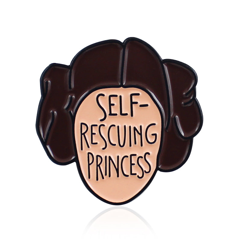 Self Rescuing Princess Enamel Pin