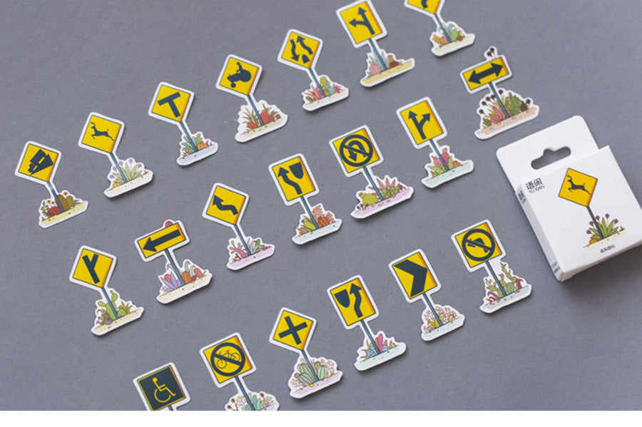 Forest Road Sign Stickers