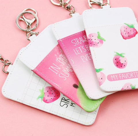 Strawberry Card Holder Cover