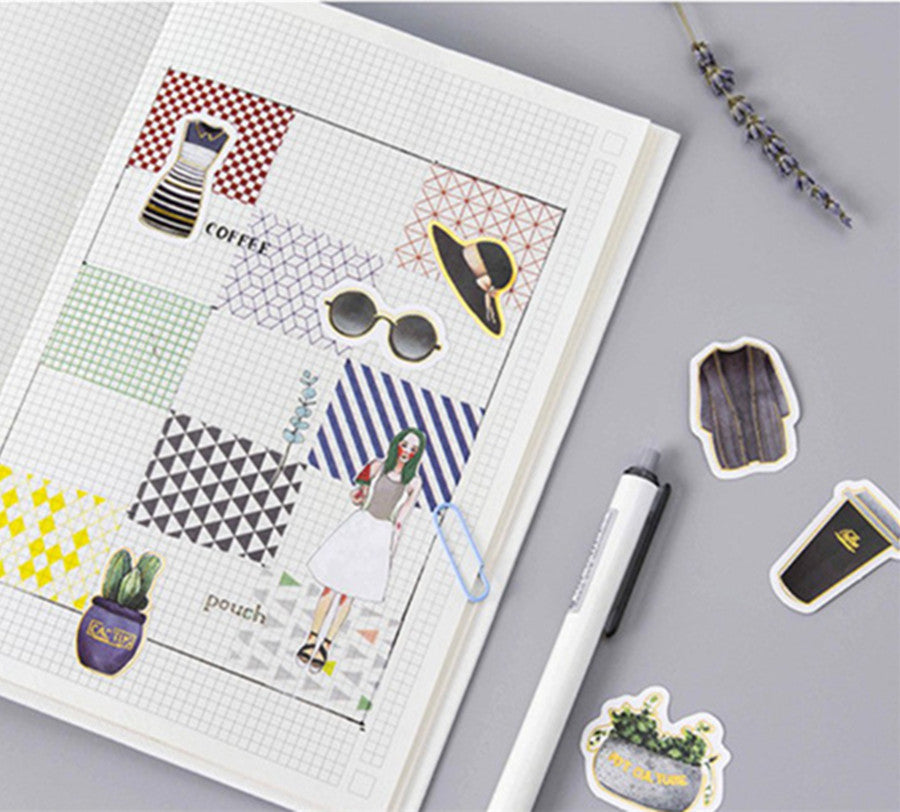 Gold Foil  Deco Sticker Collection