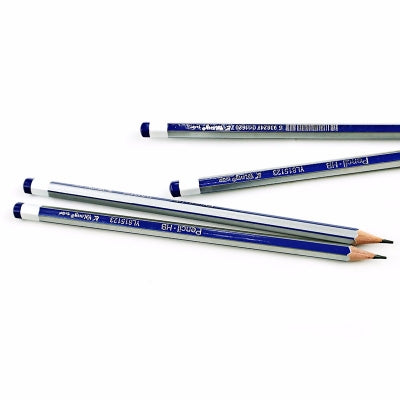 Silver Blue Wooden Pencil