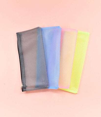Designer Soft Translucent Pencil Pouch