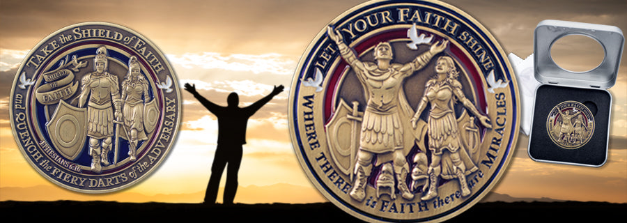Faith Theme Challenge Coin image