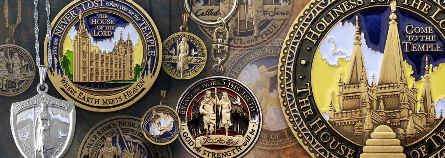 LDS Medallions, coins and emblems