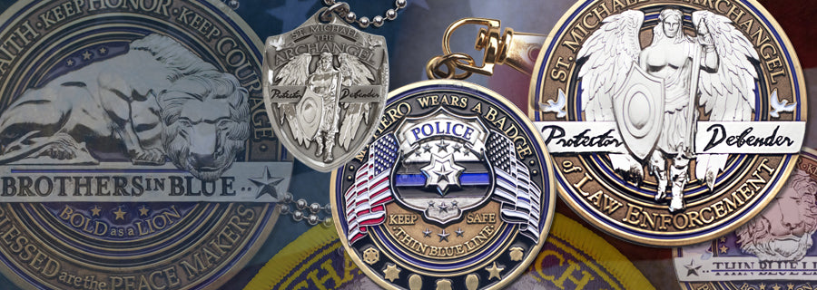 Law enforcement Challenge coins and emblems