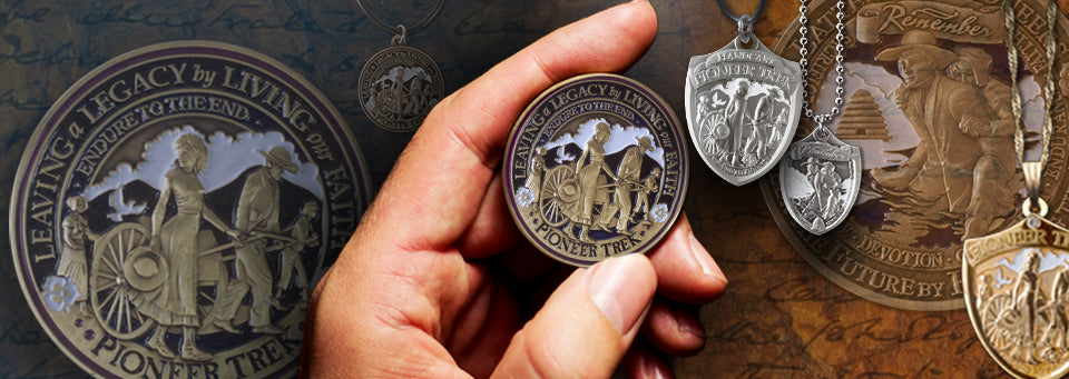 Commemorative Pioneer Trek Medallion and other Handcart Trek Gifts