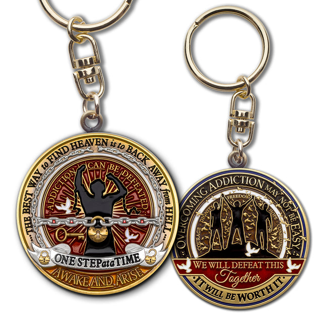 Addiction Recovery Keychain · Overcoming Addiction