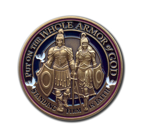 Armor of God bronze challenge coin