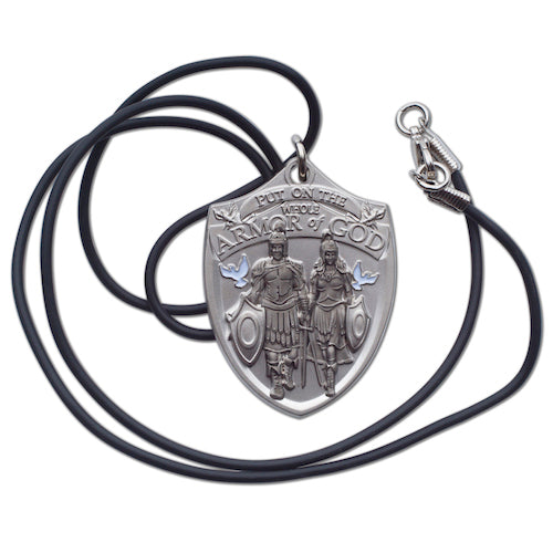 Armor of God Dog Tag with cord necklace