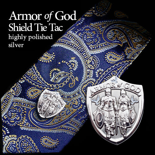 Silver Armor of God Lapel Pin