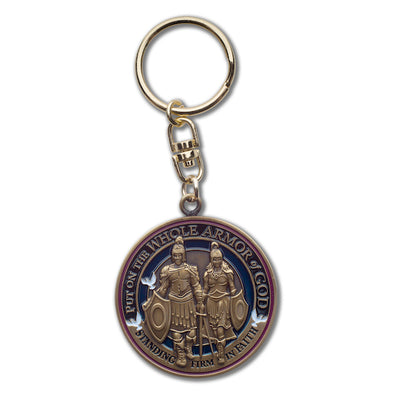 Armor of God swivel key chain