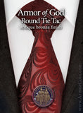 Armor of God lapel pin on tie