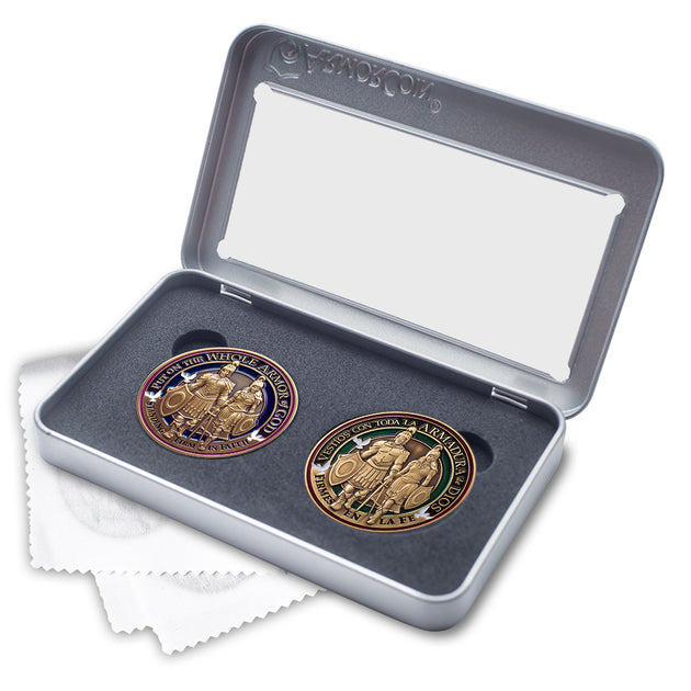English AND Spanish Armor of God Coin set