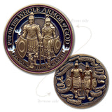 Armor of God Antique Challenge Coin