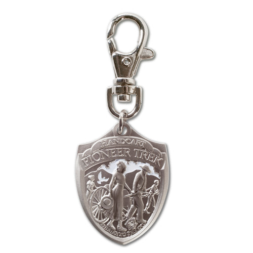 Pioneer Handcart Shield shaped key chain
