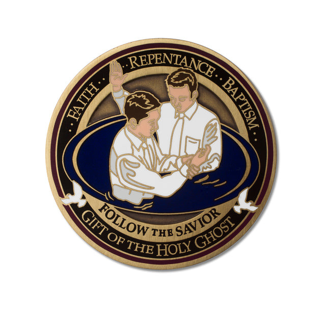 LDS Baptism Medallion
