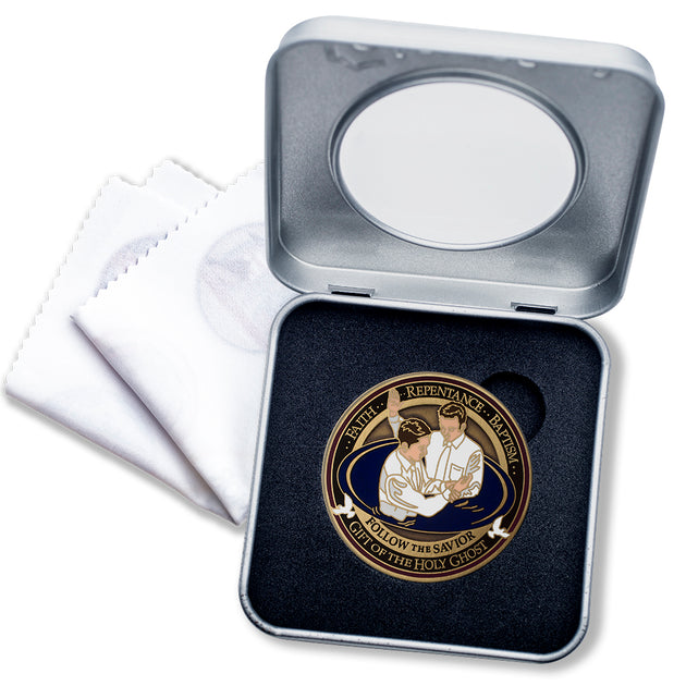 LDS Baptism Medallion Gift Box