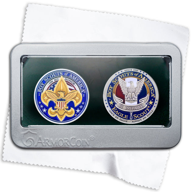 Boy Scouts and Eagle Scouts Challenge Coin gift box