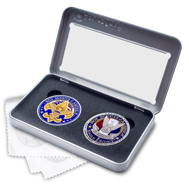 Eagle Scout BSA Boy Scout Double Coin Set