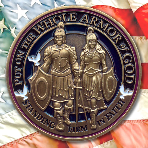 Armor of God award coin