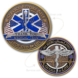 Medical Star of Life and Caduceus Coin