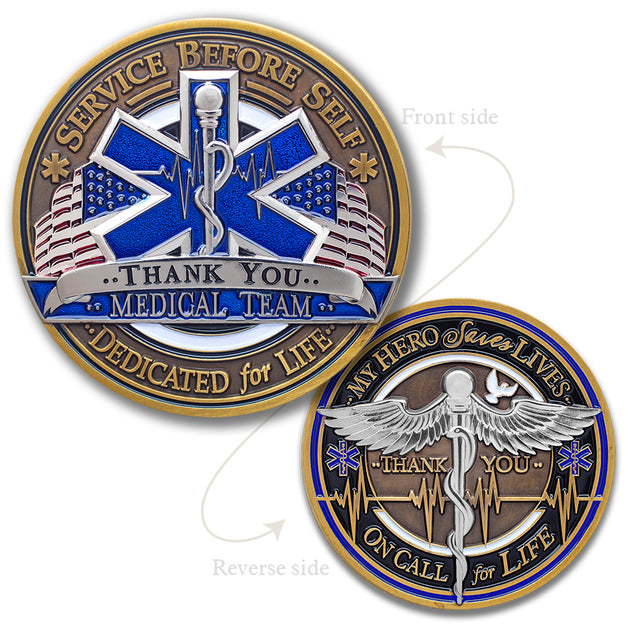 EMT Medical Team Challenge Coin