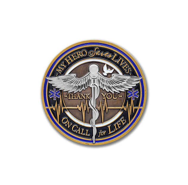 Medical Caduceus Challenge Coin