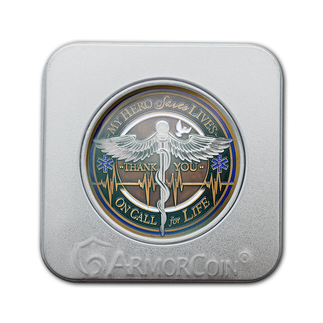 EMS Caduceus Challenge Coin Gift Box