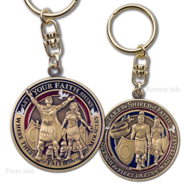 Faith in God Key Chain