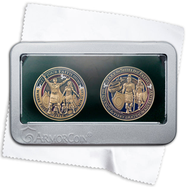 Faith Coin Double Medallion Set