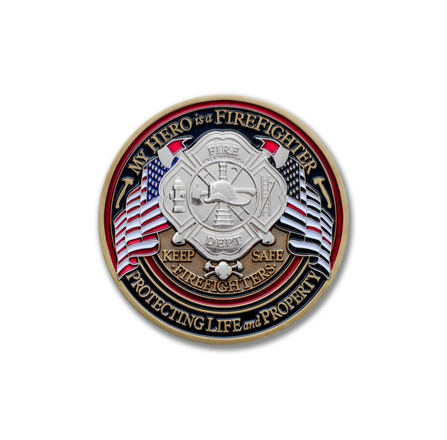 Firefighter Flag Coin