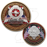 Firefighter Thank You Challenge Coin