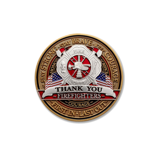 Firefighter Thank You Coin