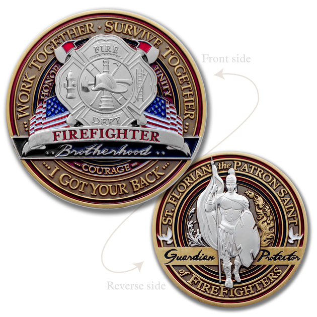 St Florian Firefighter Logo Coin