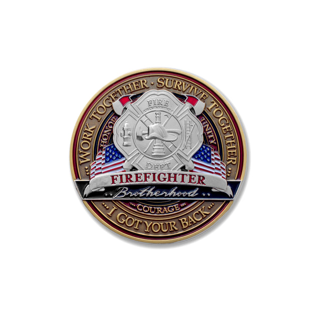 Firefighter Brotherhood Medallion