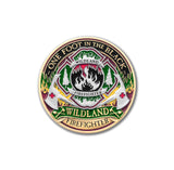 Wildland Fire Fighter Forever Challenge Coin with Deluxe Display Tin Box and Bonus Polishing Cloth