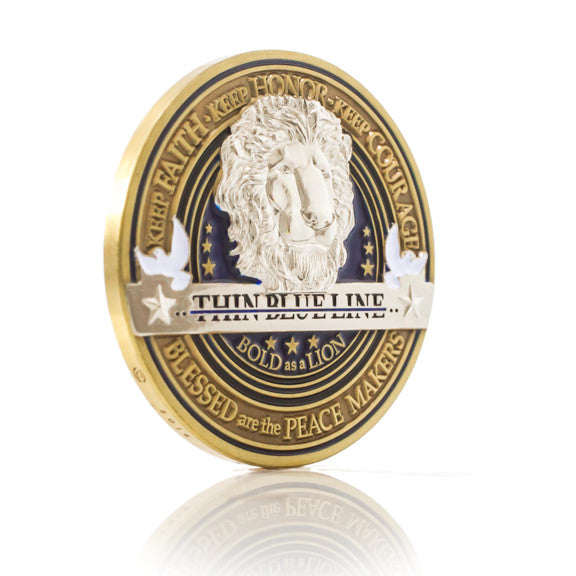 Law Enforcement Appreciation Challenge Coin · Police Officer Thank You Coin · Thin Blue Line Coin