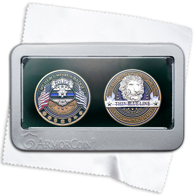 Police Thank You two coin gift set