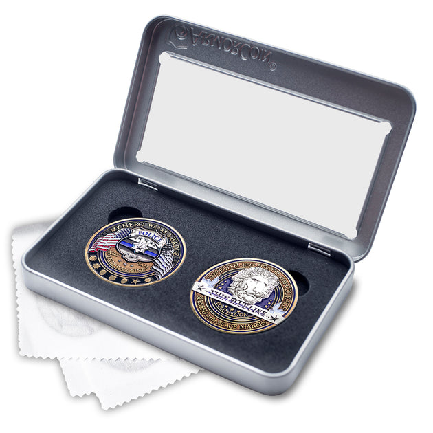 Police Appreciation Double Coin Gift Set