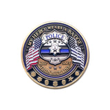 Police Flag Challenge Coin