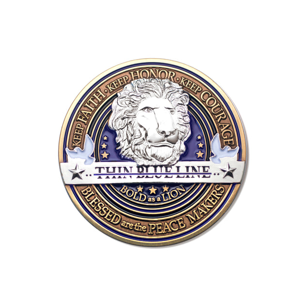 Law Enforcement Thin Blue Line Coin