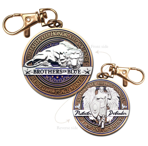 Saint Michael Police Key Chain