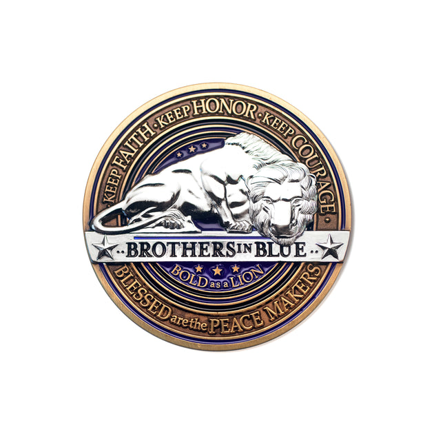 Police Brotherhood Lion Coin
